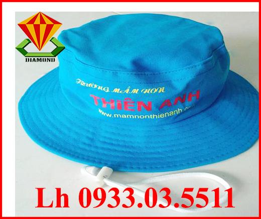 Nón tai bèo cho trường mầm nón Thiên Anh