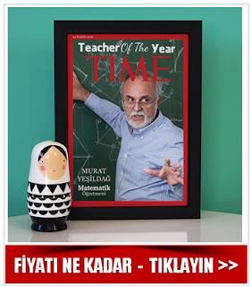 Öğretmene Hediye TIME Dergi Kapağı