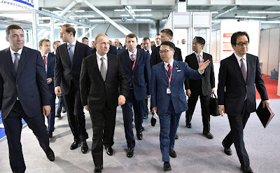 Vladimir Putin visited INNOPROM-2017 International Industrial Fair.
