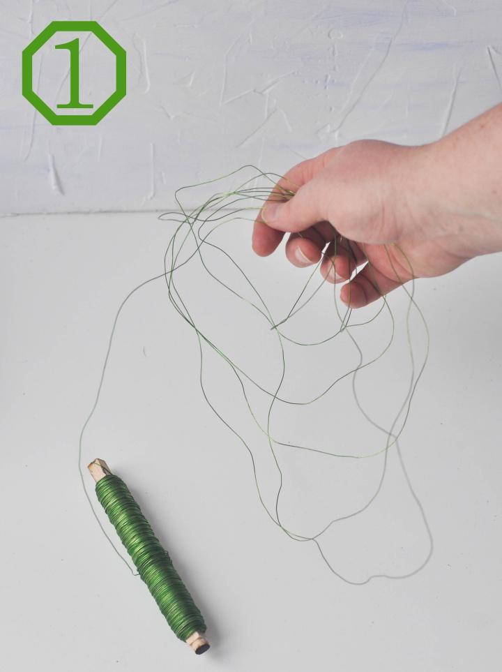 DIY wire baskets - step 1