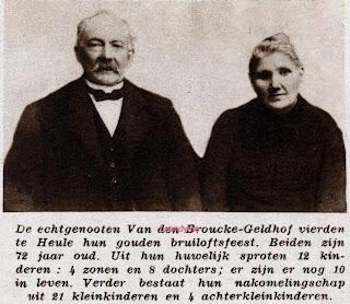 De familie Van den Broucke-Geldhof uit Heule hadden 12 kinderen.