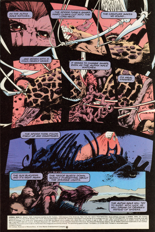 Read online Animal Man (1988) comic -  Issue #81 - 4