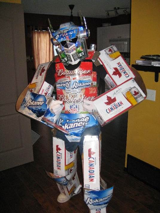Transformer Optimus Prime Beer Halloween Costume