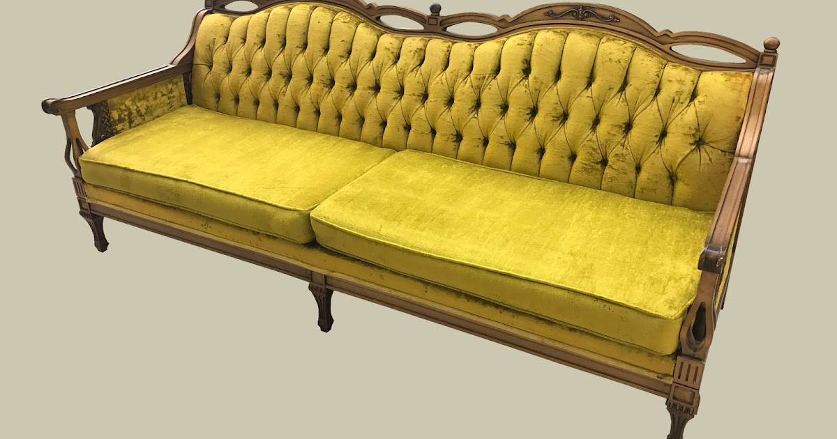 Uhuru Furniture Collectibles Vintage French Sofa 175 Sold