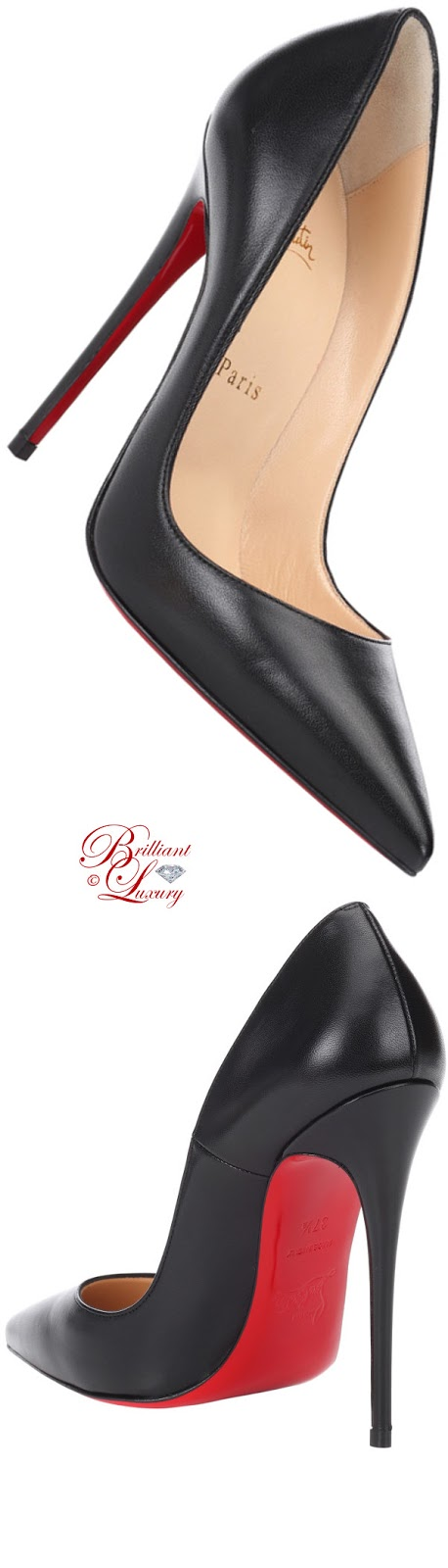 Brilliant Luxury ♦ Christian Louboutin So Kate leather pumps in black 2018