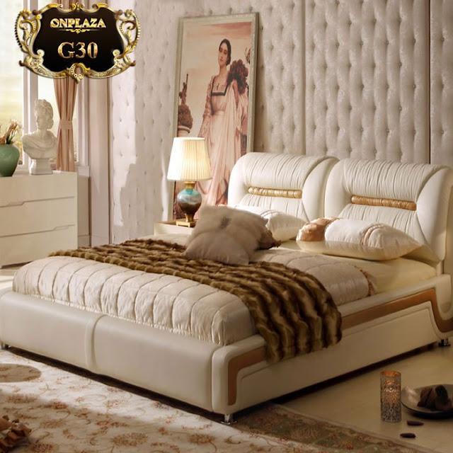Giường bọc da phong cách hiện đại cao cấp