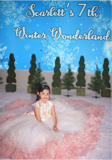 Scarlett Kramer's 7th birthday with a winter wonderland-themed party wowed netizens!