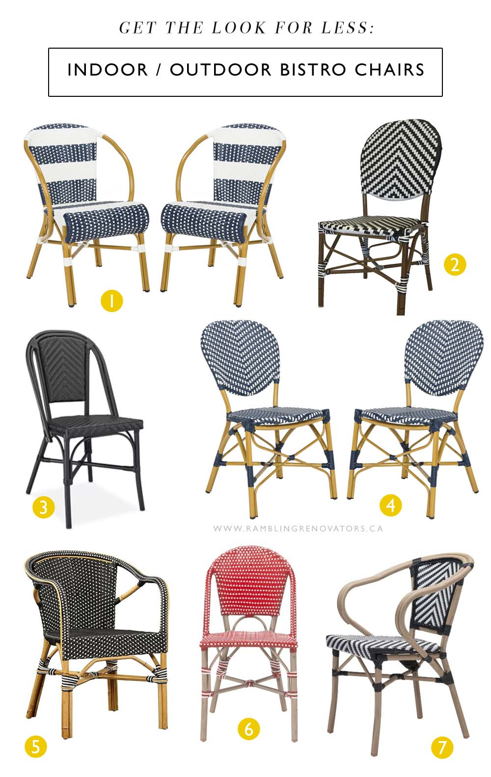 the bistro chair look for less | Ramblingrenovators.ca
