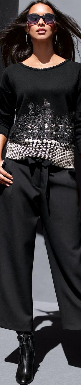 Madeleine Black Sweater