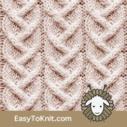 Twist Cable 9: Alternating Cable | Easy to knit #knittingstitches #knittingpatterns