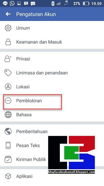 cara blokir orang di facebook lewat hp android