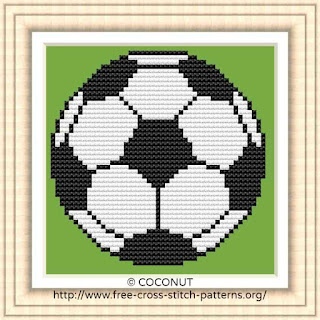 SOCCER BALL, FREE AND EASY PRINTABLE CROSS STITCH PATTERN