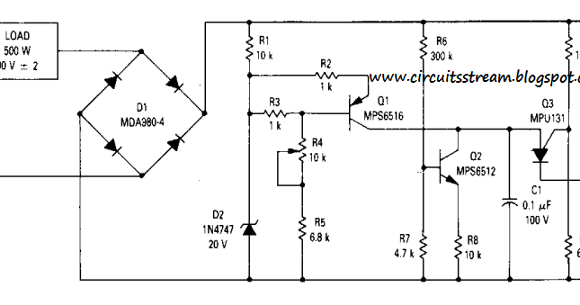 Build a Simple 90Vrms Voltage Regulator Circuits Wiring