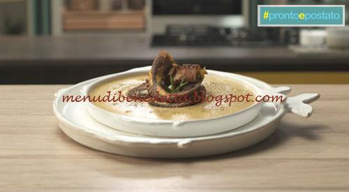 Pronto e postato - Polpo alla curcuma su crema di lenticchie ricetta Benedetta Parodi