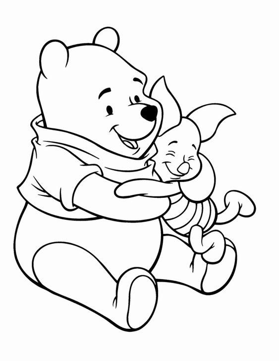 Tranh cho bé tô màu gấu Pooh 9