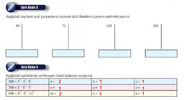 8. Sınıf MEB Yayınları Matematik 14. Sayfa Cevapları 1. Ünite