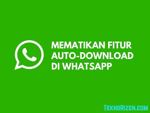WhatsApp merupakan aplikasi media sosial yang paling populer belakangan ini Tutorial Memenonaktifkan Fitur Download Otomatis di WhatsApp