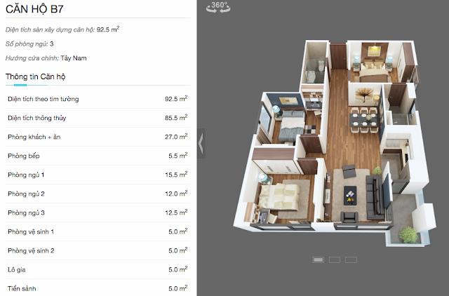 Thiết kế căn hộ B7 chung cư The Legend