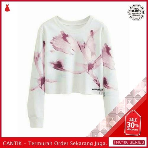 FNC186S18 Sweater Crop Tulipe Babytery Wanita BMGShop To Serba 50 Ribuan