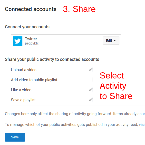 how to connect accounts to youtube