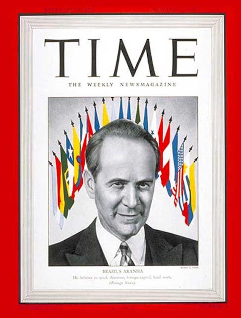 Time magazine features Brazilian minister Osvaldo Aranha on 19 January 1942 worldwartwo.filminepctor.com