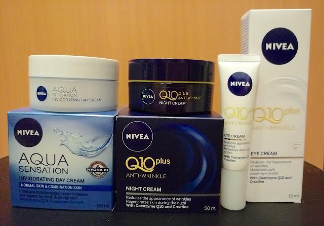 >> 保濕面霜測試贏家*NIVEA 24 小時補濕晶華&Q10Plus 抗皺修護系列