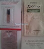 Logo In consegna campioni omaggio Vichy, Shiseido e Aveeno