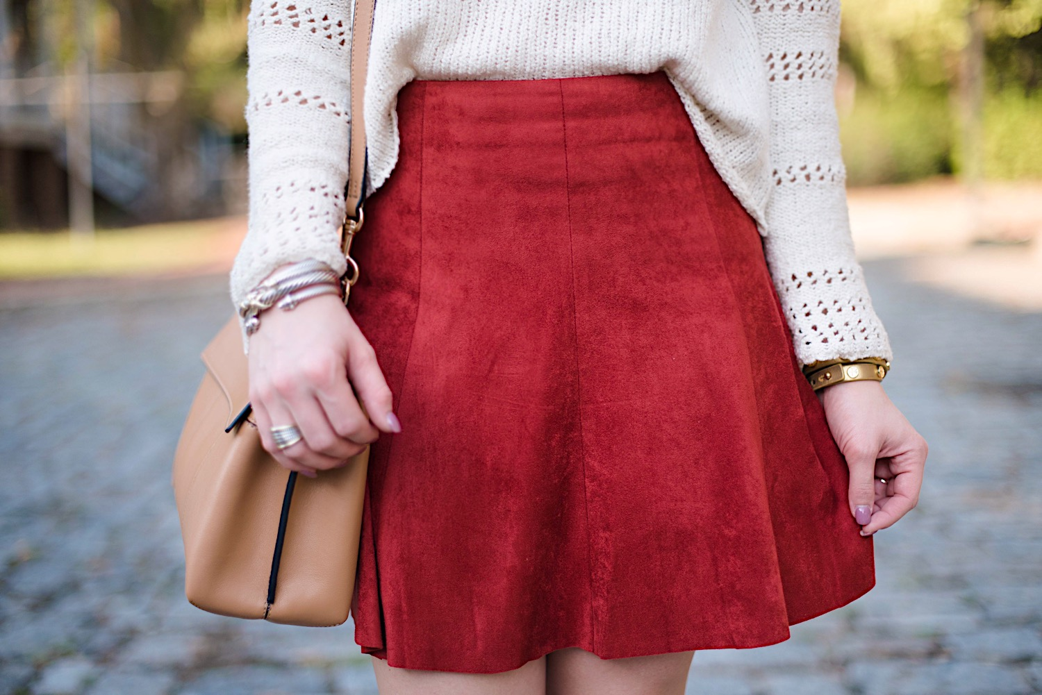 Suede Skirt - Something Delightful Blog