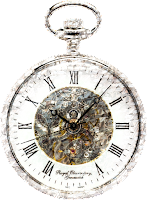 image of a pocket watch in white and crystal