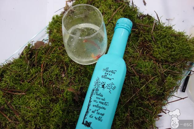 gin tonic con aceite de oliva ahumado