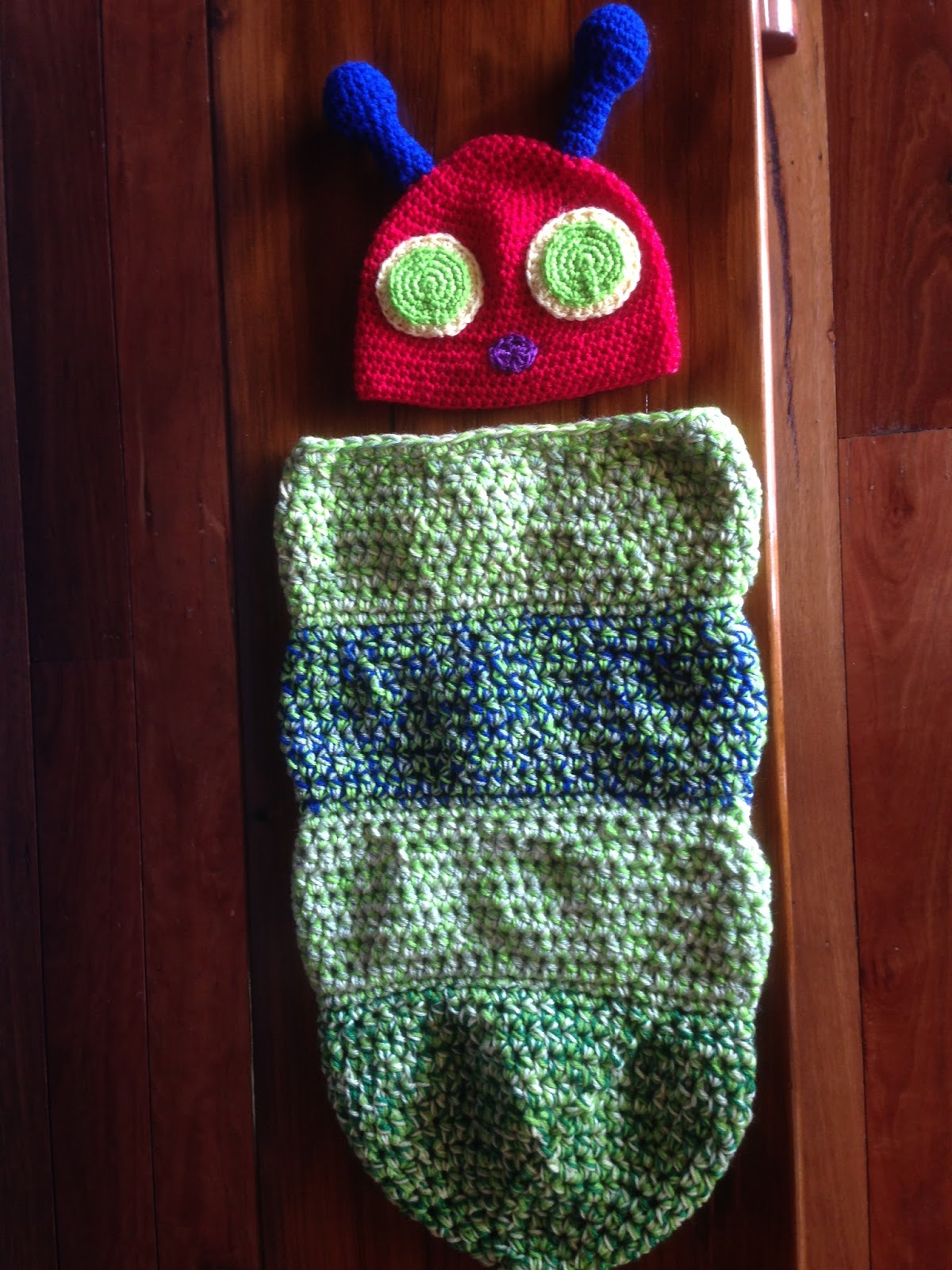 b90bc2c85 Crochet Obsession: Hungry Caterpillar Baby Cocoon and Hat crochet ...