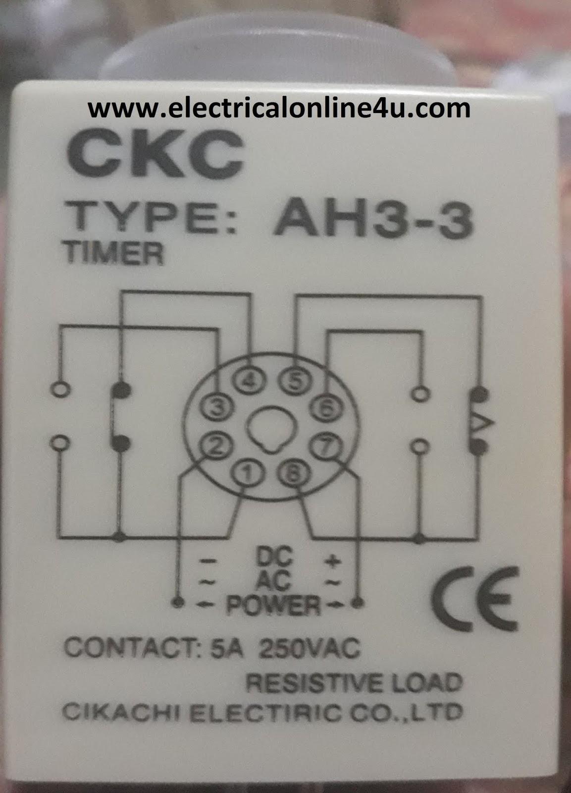 8 Pin Timer Wiring Diagram Electricalonline4u
