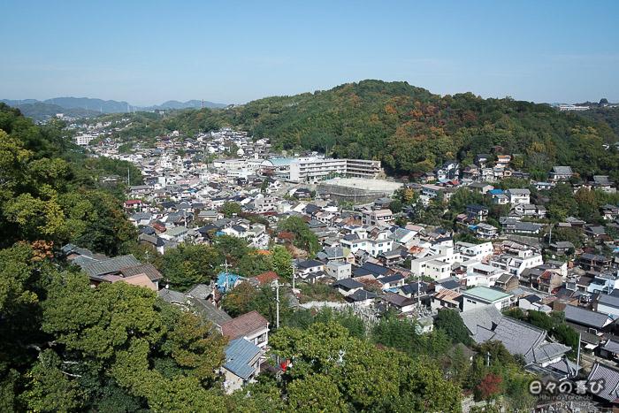Vue sur Onomichi depuis le téléphérique, Onomichi, Hiroshima