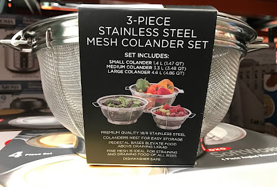Costco 1136438 - Sabatier 3-piece Stainless Steel Mesh Colander Set: great for any kitchen