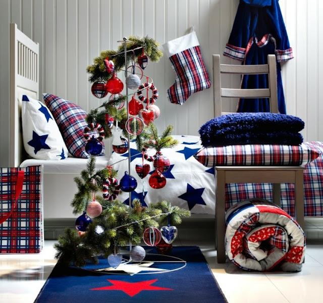 ideas para decorar dormitorios juveniles en navidad by