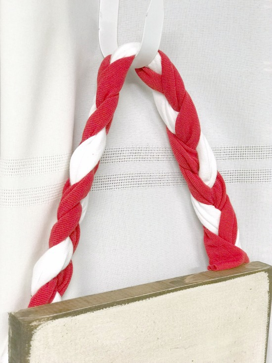 Braided handle for recycled American flag