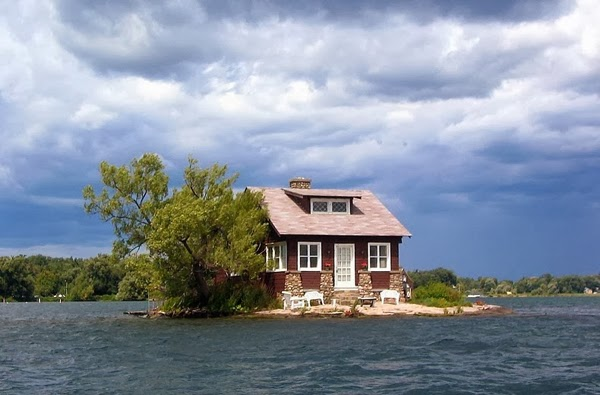 Others are small enough to only have room for a single house (as seen here with Just Room Enough Island).