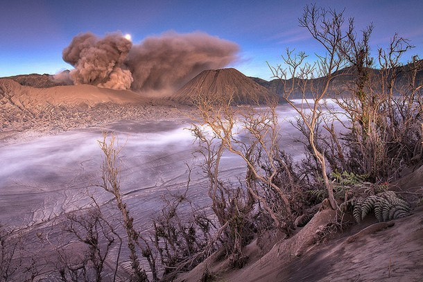 Moonset Mount Bromo