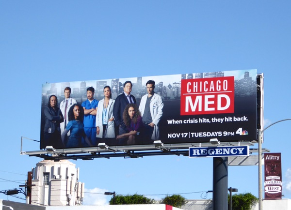 Chicago Med series premiere billboard