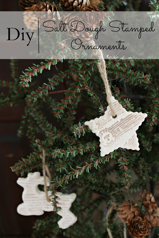 Diy Salt Dough Stamped Ornaments