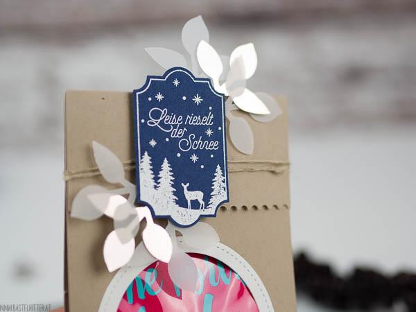 Stampin up Bastelritter Weihnachtliche Etiketten Tetesept Badesalz eine portion Liebe