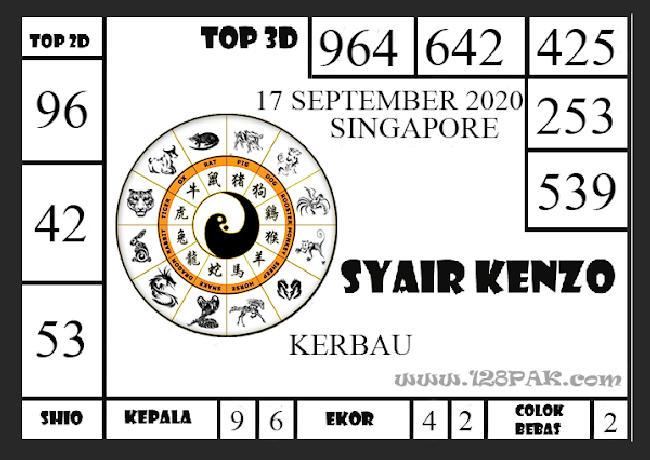 Kode syair Singapore Kamis 17 September 2020 135