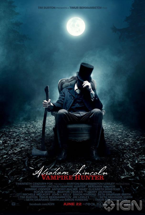 News: Abraham Lincoln - Vampire Hunter tem seus primeiros cartazes. 18