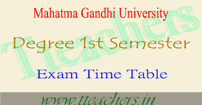 MGU university degree first semester exam date time table 2016
