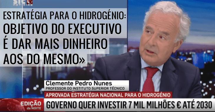 Projecto Hidrogénio: «Quem vai ser roubado são os contribuintes»