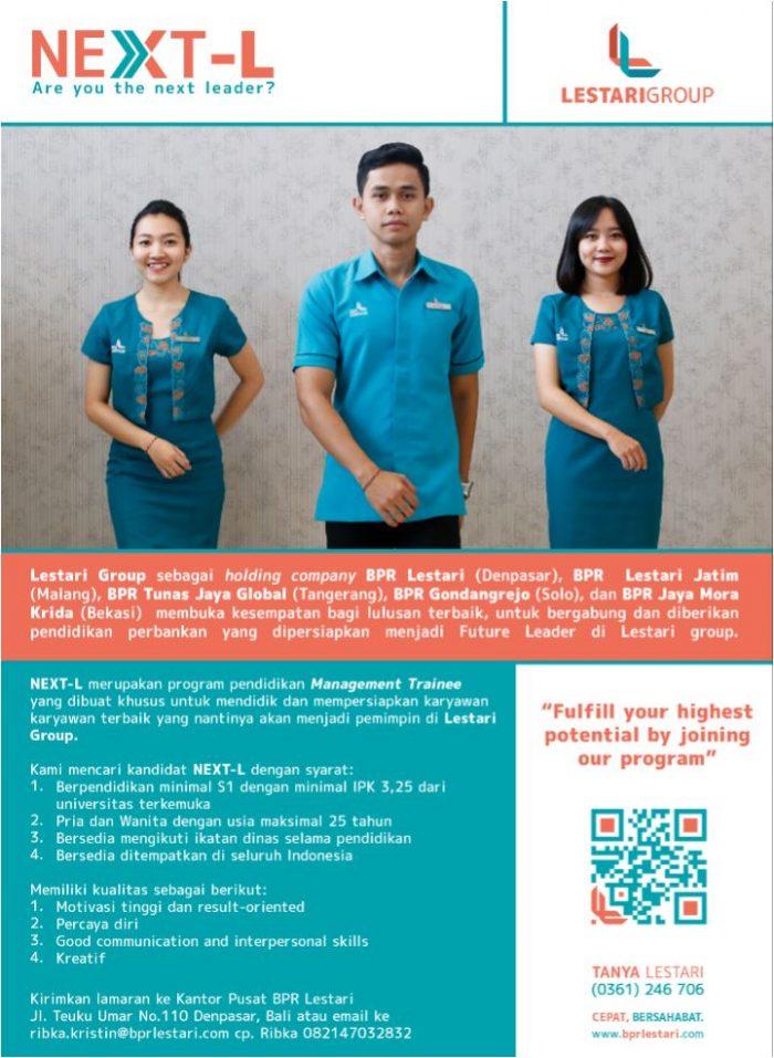 Lowongan Kerja Bpr Lestari Group Denpasar Lowongan Kerja Terbaru Lulusan Sma D3 Dan S1 Semua Jurusan 2021