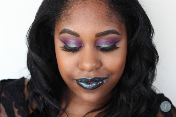 picture of purple and blue makeup look