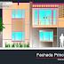 مخطط منزل عائلي بطابقين اوتوكاد dwg