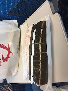 sushi de caballa desempaquetado