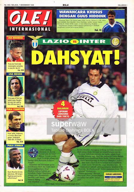COPPA ITALIA 1998 LAZIO VS INTER MILAN ROBERTO BAGGIO